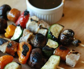 Pork Kabobs with Balsamic BBQ Sauce