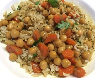 Chickpea Stew made with coconut milk