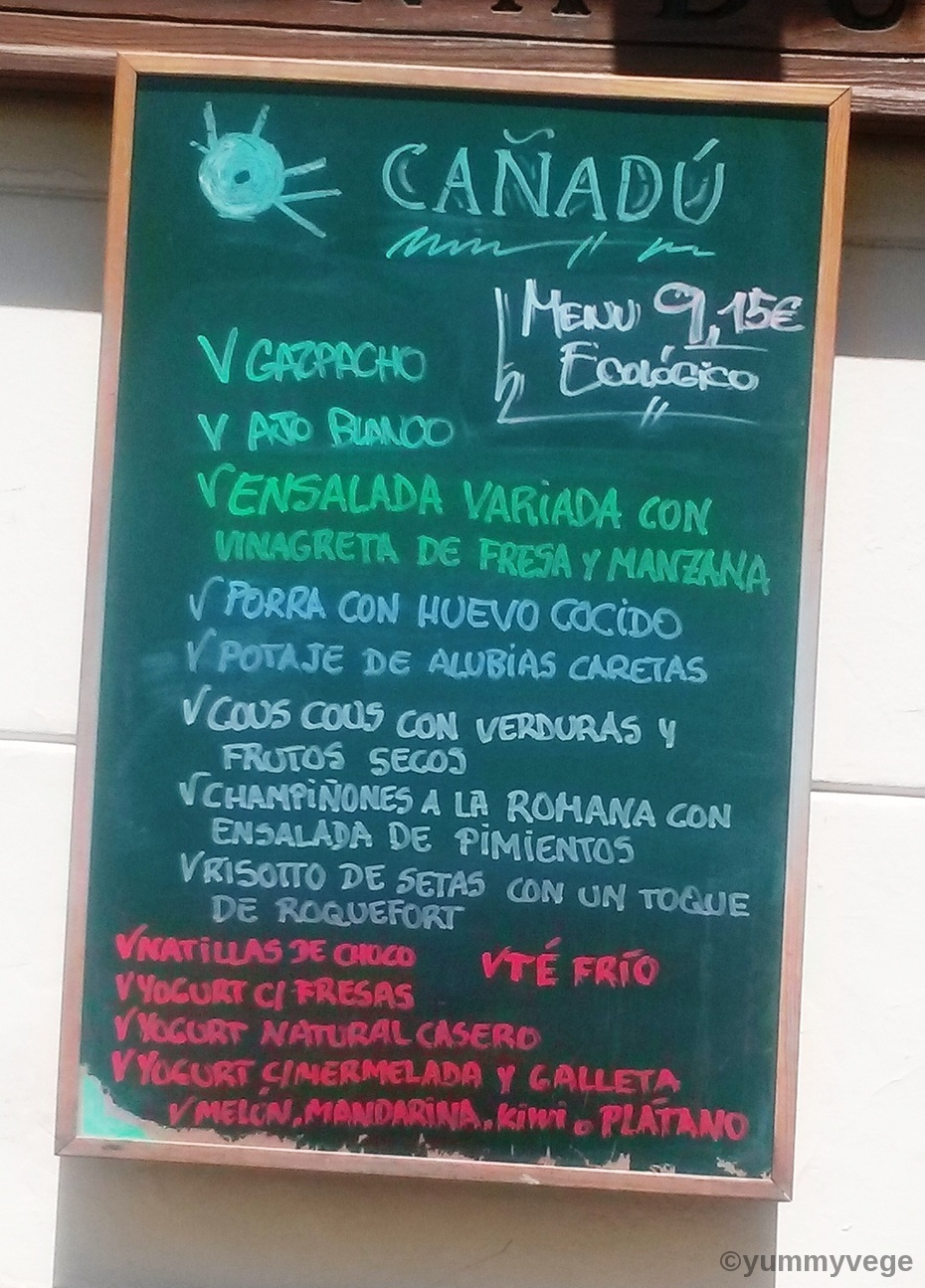 Cañadu – Vegetarian food in the centre of Malaga