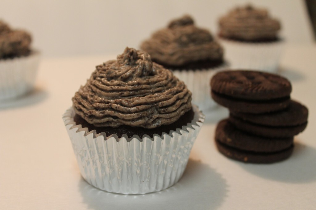 Chocolate Cupcakes with Oreo Buttercream Frosting