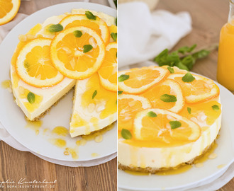 Kalorienarmer Orange Cheesecake mit Orangen-Gelee