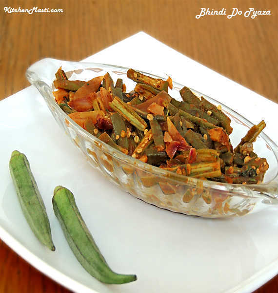 Bhindi Do Pyaza / Sauteed Okra Recipe.