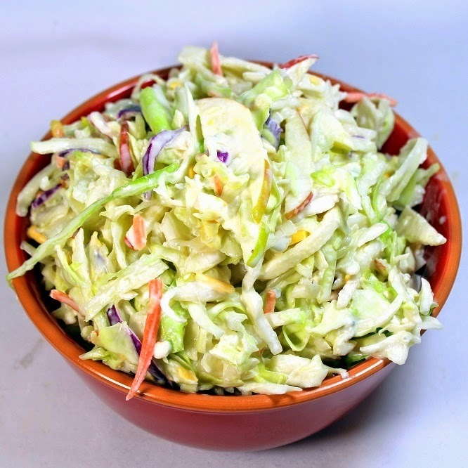 Honey Apple and Cheddar COLESLAW - 52 Grilling Time Secrets and Church PotLuck Sides