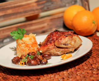 Orange Glazed Cornish Game Hen