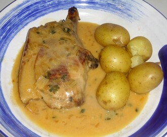 Pork Chops with a Cider, Thyme and  Shallot Sauce Recipe