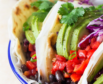 Vegan black bean tacos