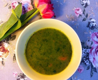 WILD GARLIC AND CARROT SOUP