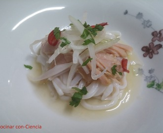 Cooking the Chef 15.2 (Mayo 2016): Ceviche de chipirón y bonito (Martín Berasategui)