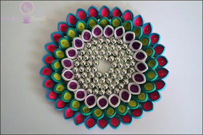 Quilled Diya Coaster / Quilling Candle Holder / Quilled Candle Coaster