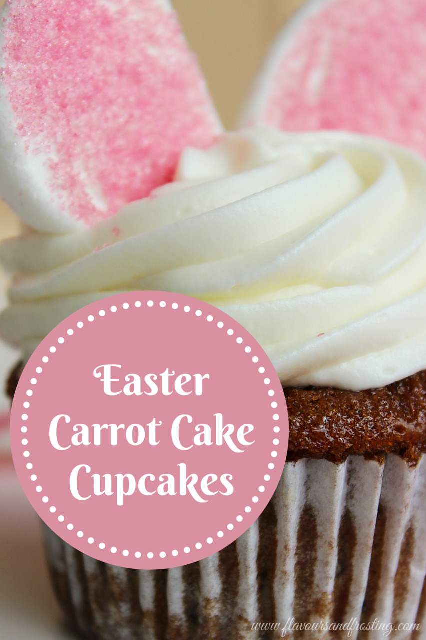 Carrot Cake Cupcakes for Easter|Buttermilk Glaze|Cream Cheese Frosting