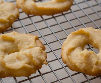 Galletas danesas de mantequilla. Danish butter cookies.
