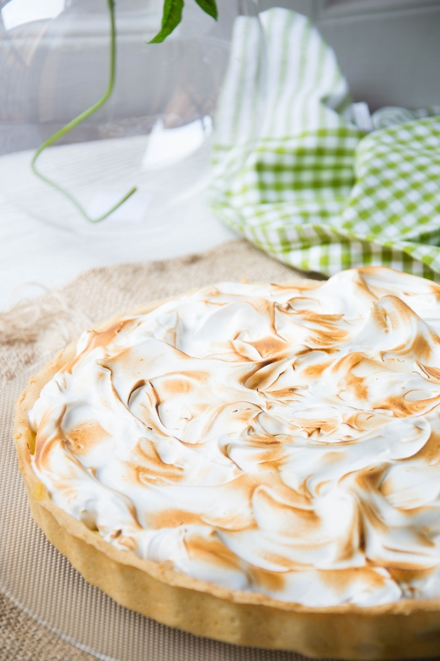 Lemon pie o tartaleta de limón y merengue