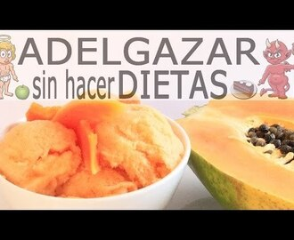Helado de papaya