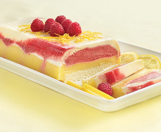 Raspberry Lemonade Ice Cream Cake