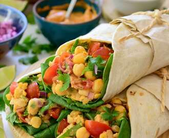 Vegan Tacos with Chickpeas and Smoky Mayo