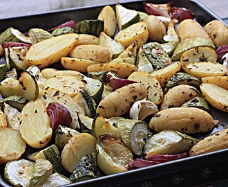 Oven Baked Lemon Zucchini and New Potato Salad