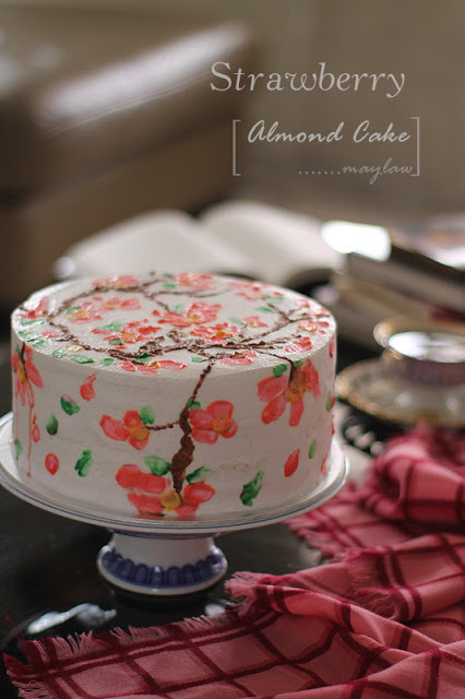 草莓杏仁蛋糕 【Strawberry Almond Cake】