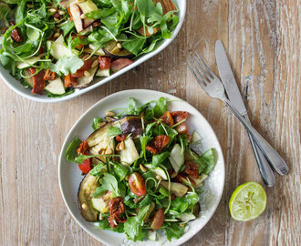 Aubergine, Sun-Dried Tomato and Pine Nut Salad