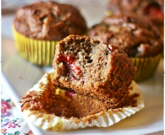 Muffins di lino super nutrienti alle prugne e semi di chia – Energy muffins with damson, flax flour and chia seeds
