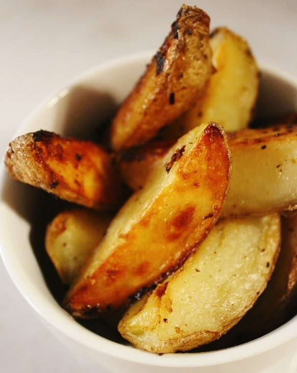 Garlic Potato Wedges: Plus how to get them done extra quick!