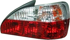 PEUGEOT 306 99-01 4D/CAB REARLIGHTS CLEAR/RED