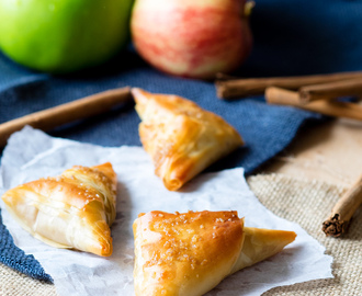 Caramel Apple Turnover with Filo Pastry