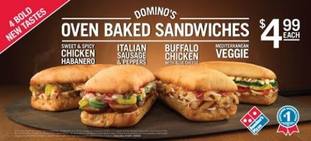Dominos Oven Baked Sandwiches