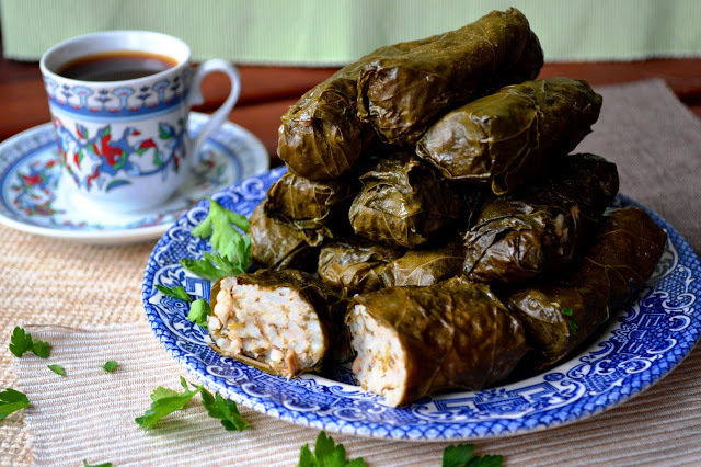 RECIPE: Vegetarian vine leaf dolma stuffed with rice and herbs