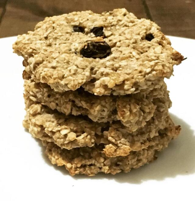Galletas de avena con tres ingredientes