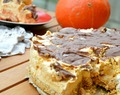 Pumpkin & Marbled Chocolate Cheesecake