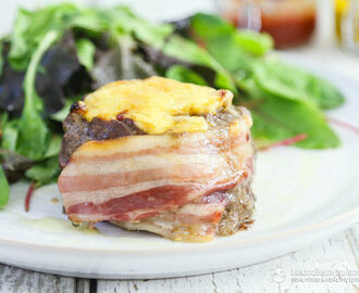 Bacon Wrapped & Cheese Stuffed Burgers