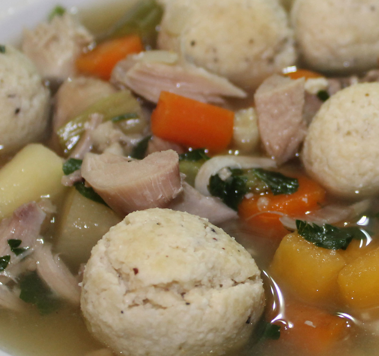 Paleo Chicken Soup with Dumplings