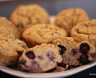 Blueberry Cheesecake Muffins (LCHF)