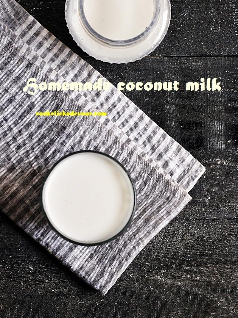 How to make coconut milk recipe from fresh coconut | Homemade coconut milk recipe