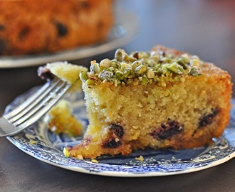 Bake Off Bake Along: Week 8 - Cherry, Marzipan & Pistachio Cake