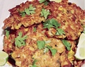 Chipotle Potato Latkes - Cheap and wonderfully cheerful fodder.