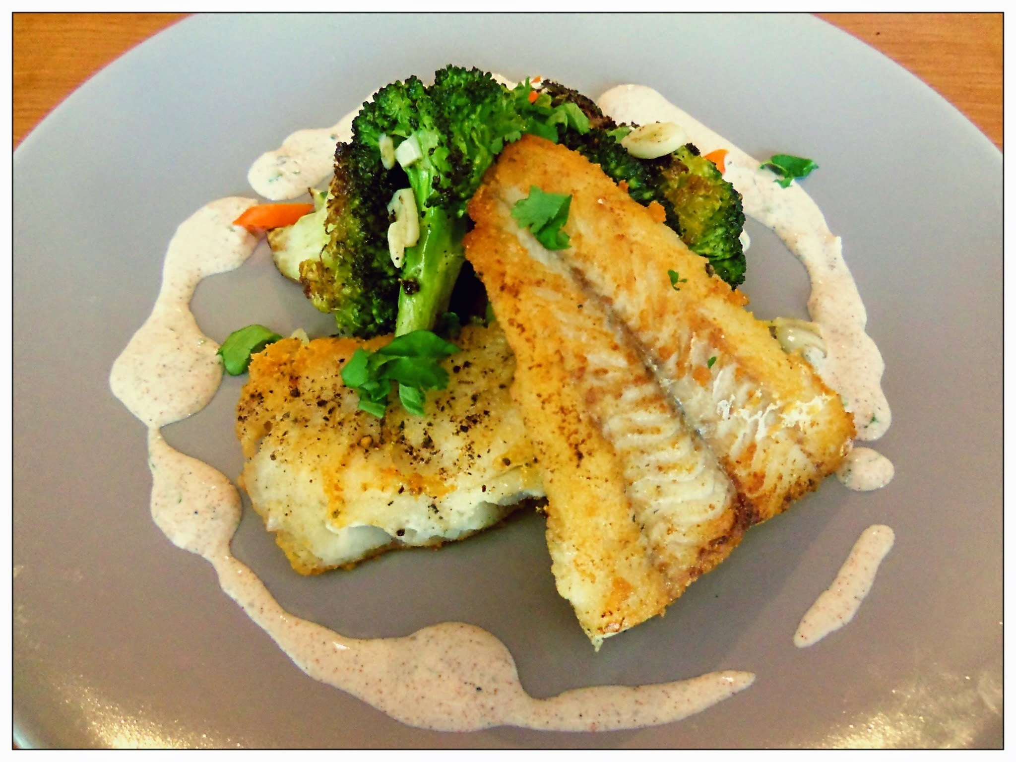 Fried Fish with Blistered Broccoli and Yogurt Sauce | You've Got Meal!