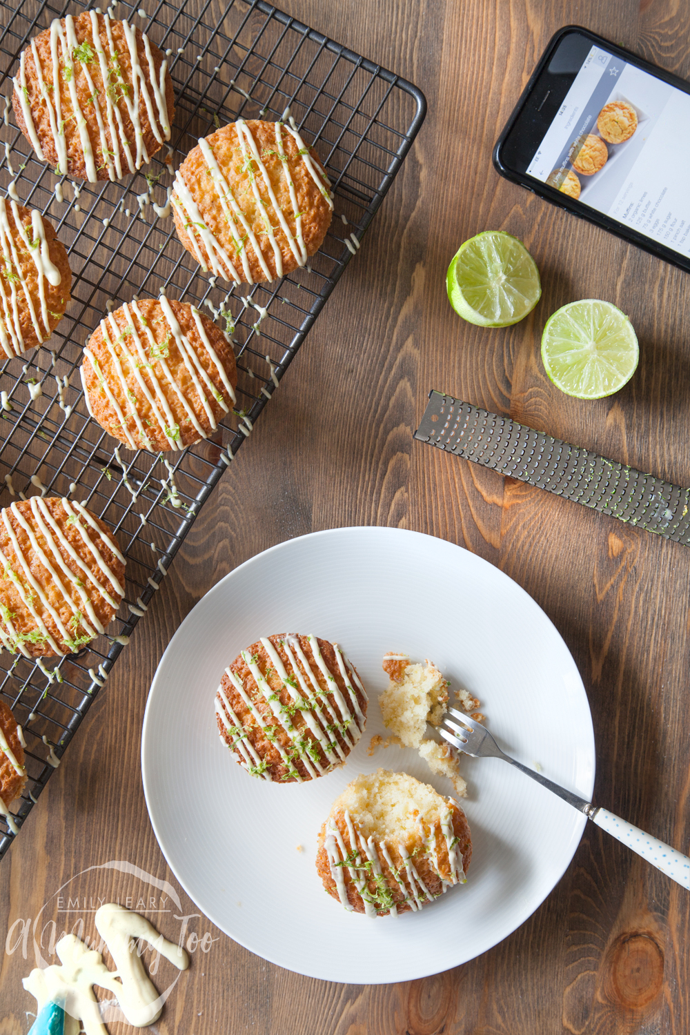 Lime and white chocolate muffins + baking the perfect showstopper with Bosch PerfectBake