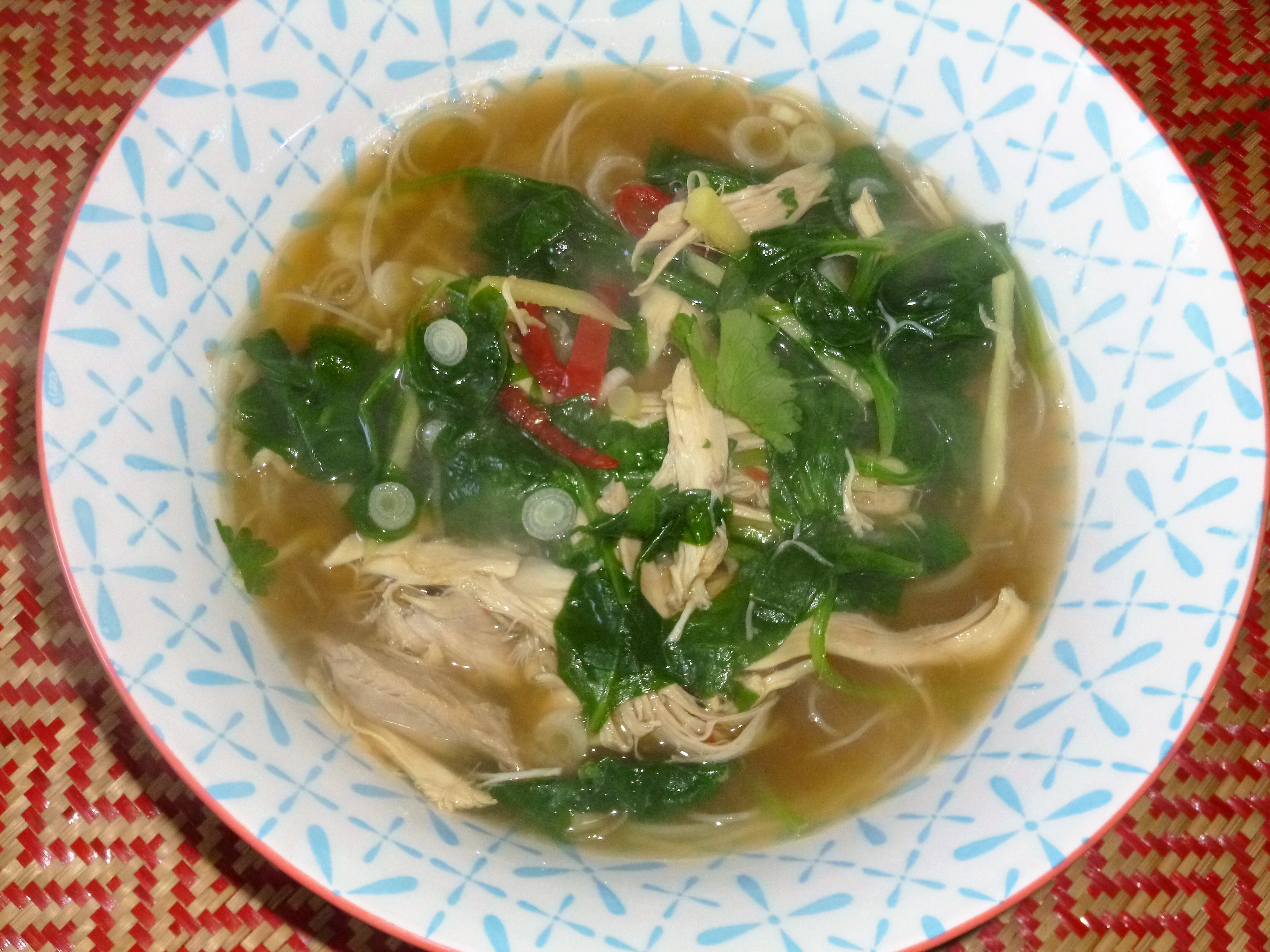 Leftover Roast Chicken Asian Noodle Soup Recipe