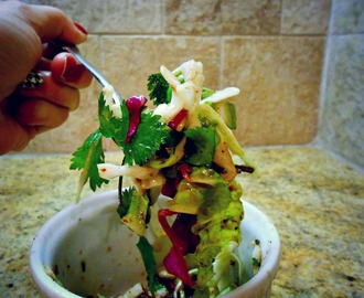 The most delicious and best coleslaw ever: Lucky J's Jamaican Citrus Slaw (AND A GIVEAWAY!)
