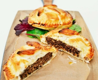 Layered Veggie Burger Pies