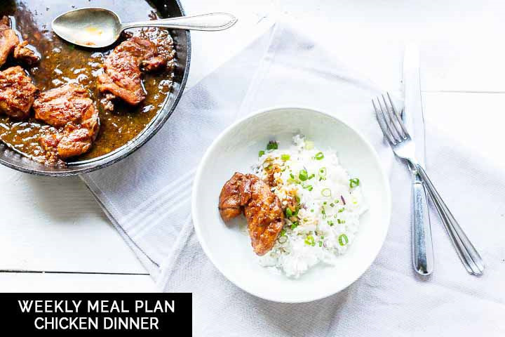 Weekly meal plan: chicken dinner recipes