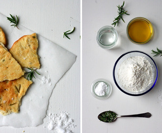 Brot + Olivenöl = Big Love {Rosemary and Sea Salt Flatbread}