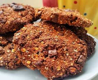 Galletas de avena, platano y chocolate // Oats, banana and choco coockies.