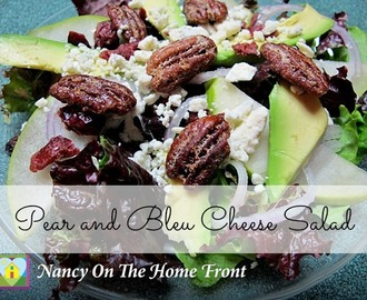 Simple Salads: Pear and Bleu Cheese