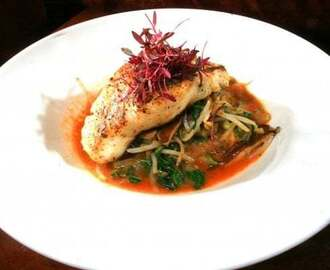 Chilean Sea Bass with Soba Noodles