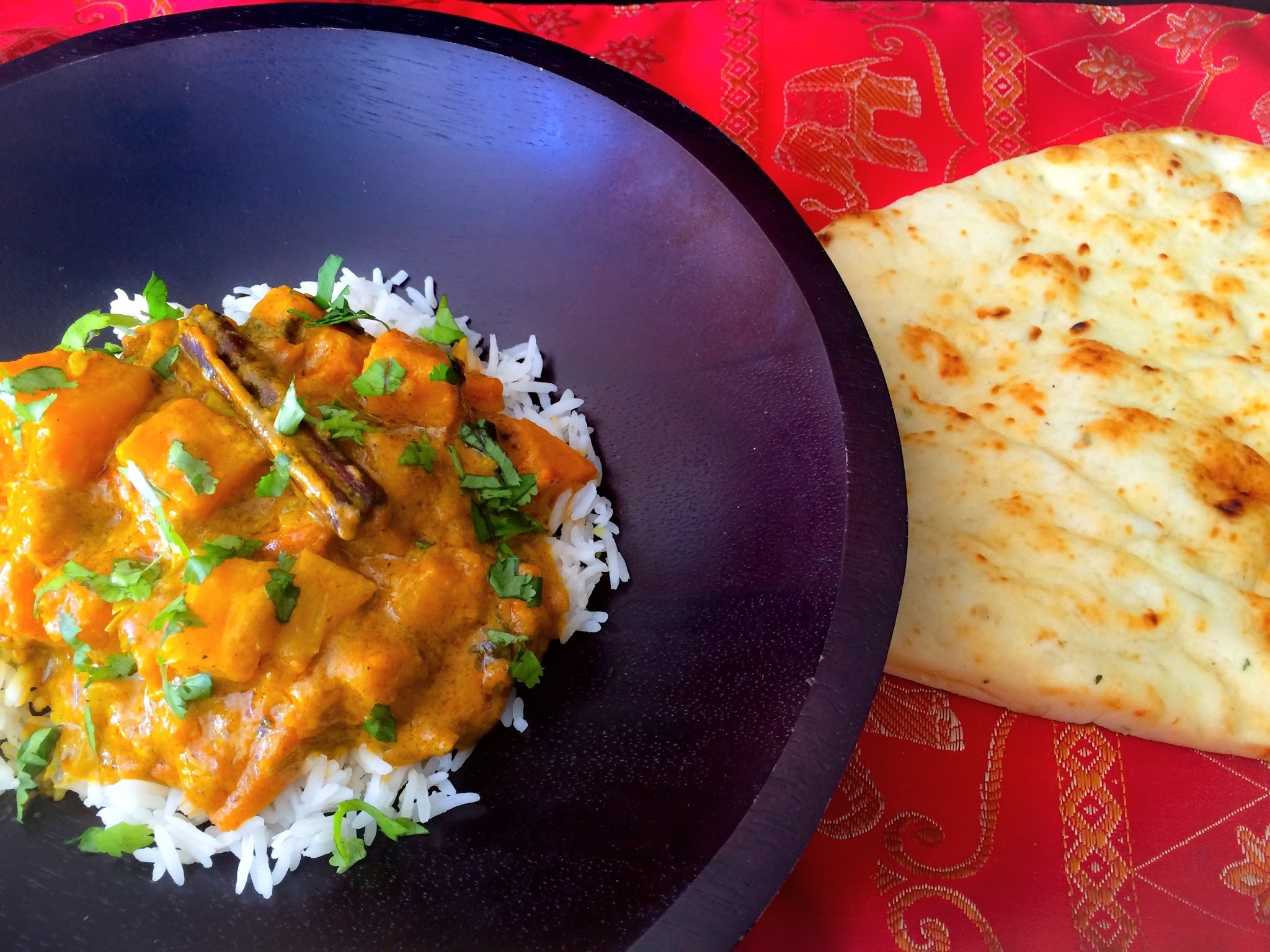 Courge Butternut Au Curry et Lait de Coco