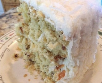 ♥ Butter Pecan Cake with Coconut Butter Cream Frosting