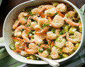 Baked Potato with Lemon Shrimp Recipe