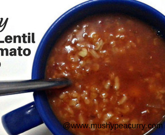 Spicy Red Lentil & Tomato Soup